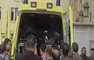 إصابة 15 شخصا فى انقلاب سيارة أجرة شمال بنى سويف