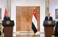 المؤتمر الصحفي المشترك بين السيسي ورئيس وزراء العراق