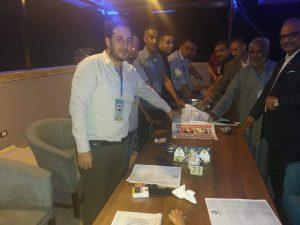 حزب مصر بلدى وتوزيع شنطة رمضان خلال  الشهر الكريم