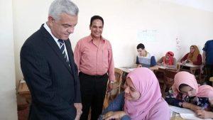 مبارك يتفقد امتحانات الفصل الدراسي الثاني بالنوعية