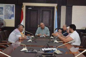محافظ البحر الاحمر يلتقى رئيس هيئة التنمية الصناعية بمدينة الغردقة