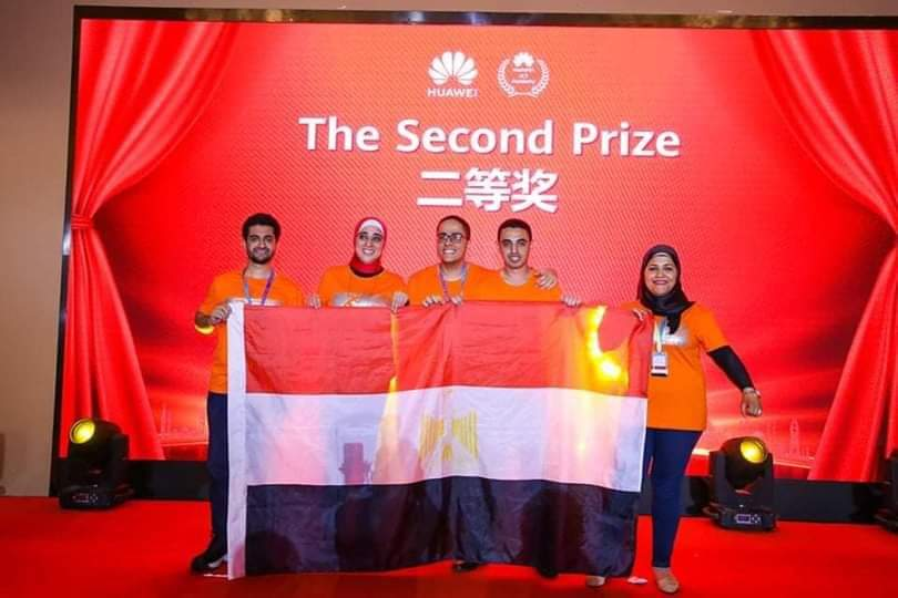 طالب الهندسة الإلكترونية يقود الفريق المصرى الذى حقق المركز الثانى فى المسابقة العالمية Huawei ICT 2018/2019