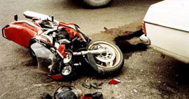 إصابة 6 أشخاص فى انقلاب دراجتين بخاريتين ببنى سويف
