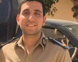 أميرة عمر تهنئ الضابط باسل علاء بمناسبة ترقيته لرتبة ملازم أول