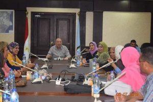 اجتماع اعضاء فرع المجلس القومي للمرأة بديوان عام المحافظة