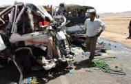 مصرع ٩ ركاب وإصابة ١١آخرين في حادث تصادم بطريق قنا سفاجا