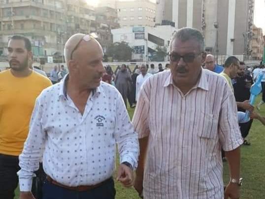 رئيس حي العرب يؤدي صلاة عيد الأضحى المبارك، بساحة جمعية شبان المسلمين