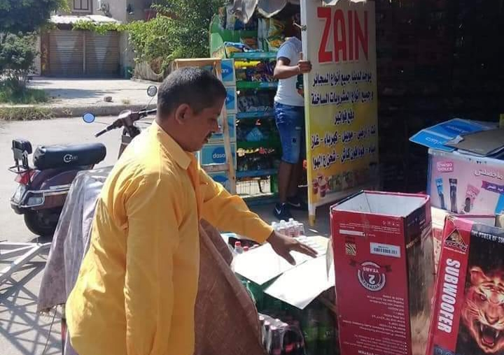 إستمرار حملات الاشغالات في نطاق حي العرب ببورسعيد