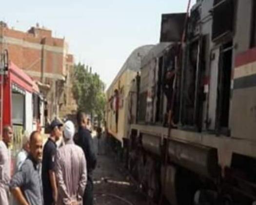 الحماية المدنية تسيطر على حريق بجرار قطار المرج بشبين القناطر