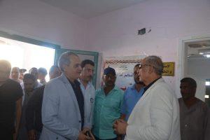 عبد الله يؤكد علي توفير المياه والخدمات الطبية علي مدار اليوم بالشيخ الشاذلي