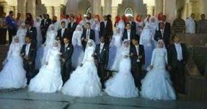 مؤسسة تقيم القاده بقاعة الفيروز بقفط حفل زفاف جماعي مجاني شامل