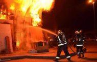 بسبب ماس كهربائي أشتعال حريق بمخزن مراتب بالبلينا بسوهاج