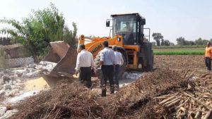 المنوفية : إزالة 2032 م2 تعدى على الأراضى الزراعية بمراكز شبين الكوم وتلا ومنوف