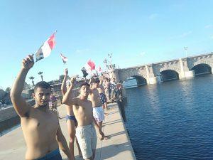 تماسيح النيل فى مطوبس فى مهرجان السباحة الأول