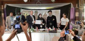 تكريم قيادية فى شبكة اعلام المرأه العربية فى احتفالية انتصارات أكتوبر
