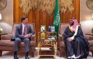 ولي العهد السعودي يجري مباحثات مع وزير الدفاع الأميركي