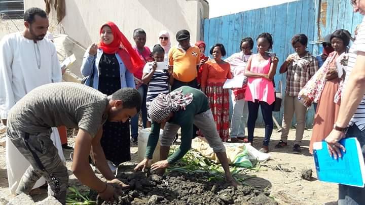 زيارة للمركز الدولي المصري للزراعة لمزارع الرحاب بالفيوم