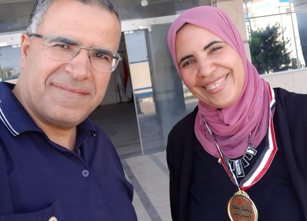 نسرين ابو هاشم تحرز المركز الاول تنس طاولة فى بطولة الالعاب الرياضيه بشمال سيناء