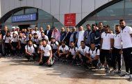 استقبال حافل من مسئولي نادي الوحدة السعودي لبعثة الاتحاد السكندري لدي وصولها مطار جدة