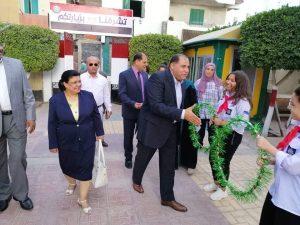عاطف محمد كامل زيارة مدرسة الثانوية بنات بمدينة الغردقة