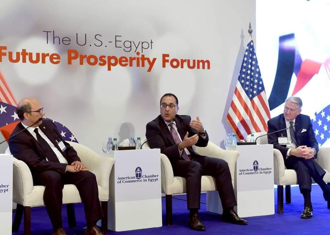 رئيس الوزراء يٌلقي كلمة في منتدي الأعمال المصري الأمريكي بغرفة التجارة الأمريكية