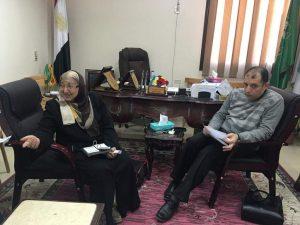 اجتماع عميد الكليه مع أعضاء هيئة التدريس بصيدلة المنوفيه