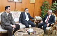 رئيس جامعة المنوفية يستقبل رئيس الجامعة المصرية للتعليم الإلكترونى