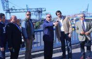 كامل الوزير يتفقد ميناء الأسكندرية لمتابعة معدلات تنفيذ عدد من المشروعات الهامة بالميناء