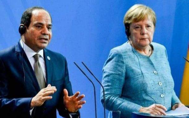 الرئيس عبد الفتاح السيسي والمستشارة الألمانية يدعمان الحل السياسي بليبيا