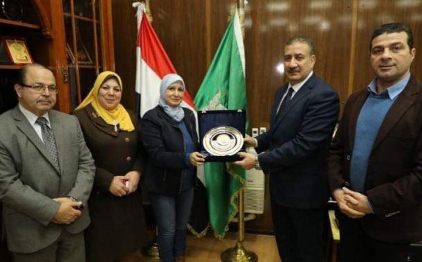 محافظ المنوفية يستقبل نقيب تمريض مصر بمكتبه بالديوان العام