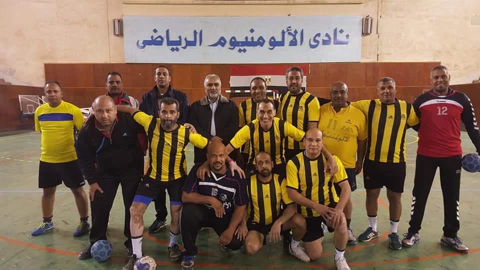 فوز فريق نادي الألومنيوم علي فريق استاد قنا الرياضي لكرة اليد