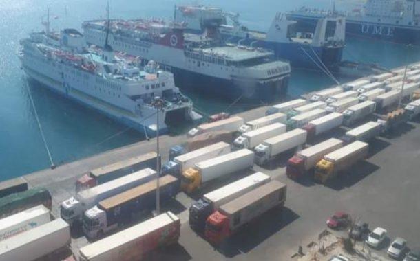 تداول 546 الف طن بضائع بموانى البحر الاحمر خلال شهر يناير الماضى