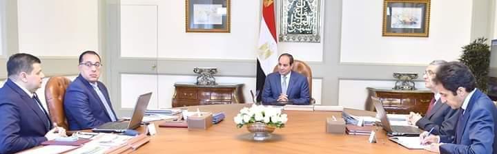 اجتماع السيد الرئيس مع رئيس الوزراء ووزير الكهرباء ورئيس المحطات النووية