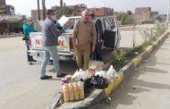 الخبير السياحي يدعم مستشفى الحجر الصحي بإسنا جنوب الاقصر بالمواد الغذائية