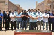 شاهد الوداع الآخير لـ حسن حسني قبل دفنه بالدموع والدعاء