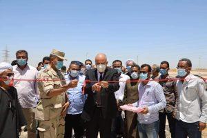 محافظ قنا يفتتح مبنى الوحدة المحلية لقرية الشيخية ومجمع الشوادر بقفط