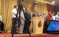 جانب من المؤتمر الصحفي لمخلوف وقفة لصحفيي تونس بوجه نائب تهكم من القنوات العربية