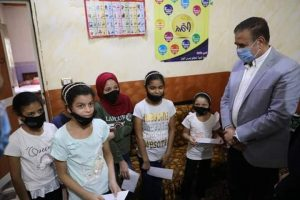 : محافــظ المنوفية يزور مؤسسة ملك الملوك لرعاية الأيتام ويوزع العيدية والهدايا علي الأطفال بالباجور