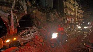 صورة من انفجار لبنان الحادث المدمر