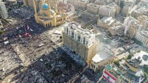 مظاهرات حاشدة في بيروت تطالب بالمحاسبة بعد الانفجار.