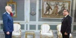 الرئيس التونسي قيس سعيّد خلال استقباله المشيشي أزمة التعيينات تبرز الصراع بينهما