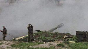جنود أرمنيون بمنطقة ناغورنو قرة باغ المتنازع عليها
