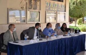 بالصور د. صديق عفيفى يعقد اجتماعا مع الطلاب الجدد بأكاديمية طيبة