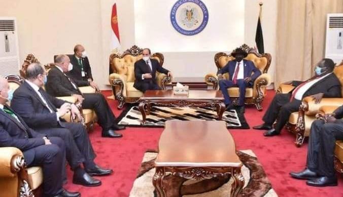 سلفا كير يستقبل السيسي في جوبا يحدد رؤية مصر لـمستقبل النيل