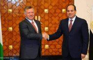 صورة للقاء سابق بين الرئيس عبد الفتاح السيسي والعاهل الأردني. ملفات مُهمة على طاولة السيسي والعاهل الأردني