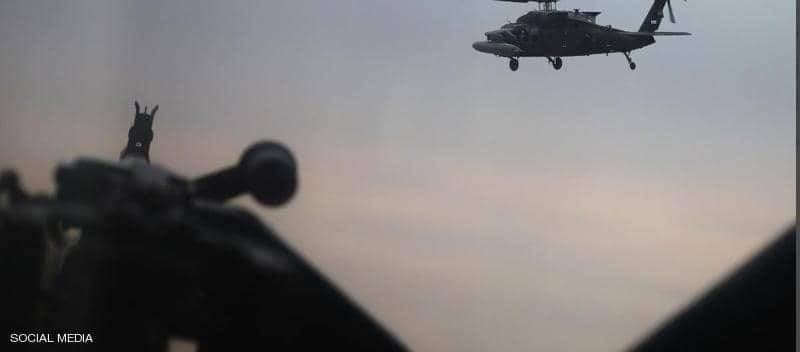ضربة جوية على أحد مخابئ التنظيم الإرهابي في منطقة جبلية شمال شرقي العراق