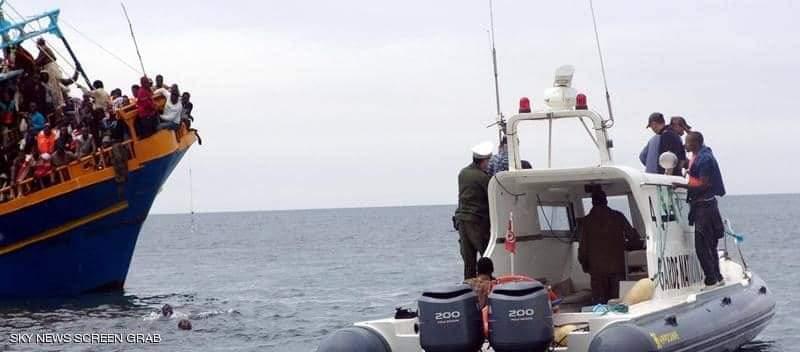 خفر السواحل التونسي ينتشل جثتين.وإنقاذ 157 مهاجرا في يومين