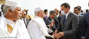عبد الحميد دبيبة لدى وصوله إلى مطار مدينة سرت الساحلية.ينجح في امتحان ثقة البرلمان؟