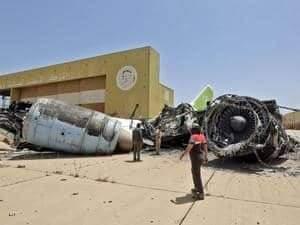 جانب من مطار طرابلس الدولي.الشاهد على جرائم الإخوان