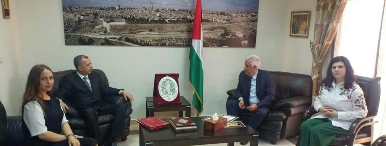 لقاء رباعي بسفارة دولة فلسطين بعاصمة المملكة المغربية